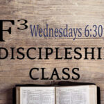 This is a picture of a bible on a piece of wood used for the F3 Discipleship Class at the Hope Center